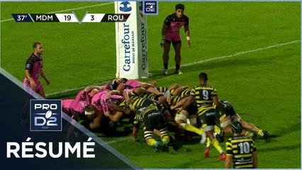 PRO D2 - Résumé Stade Montois-Rouen Normandie Rugby: 45-8 - J07 - Saison 2021/2022