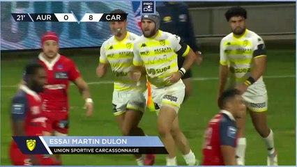 PRO D2 - Résumé Stade Aurillacois-US Carcassonne: 30-23 - J07 - Saison 2021/2022