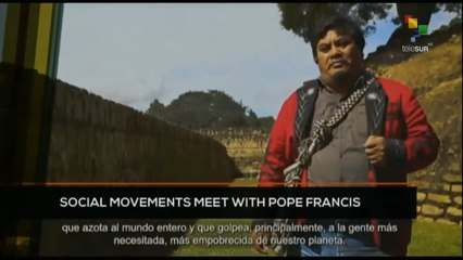 FTS 12:30 16-10: Social Movements meet with Pope Francis