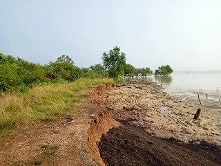 Pantai Dara Sembilan Mengalami Abrasi