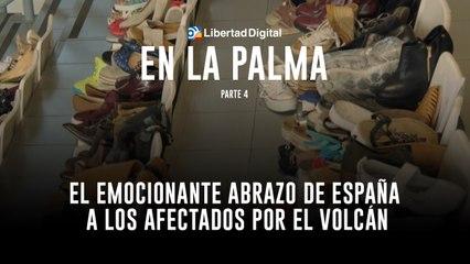 El emocionante abrazo de España a los afectados por el volcán