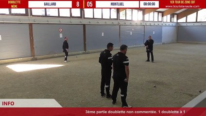 1er tour CDF 2021/2022 Gaillard vs Montluel avec WebTV - Doublettes fin