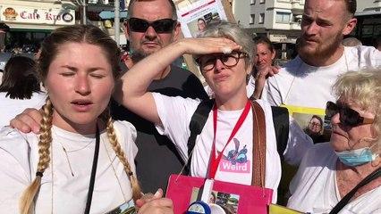 """La """"marche blanche d'espoir"""" pour Nathalie Prince a réuni 200 Fréjusiens ce dimanche"""