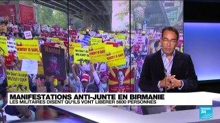 La junte birmane annonce l'amnistie de 5.600 prisonniers