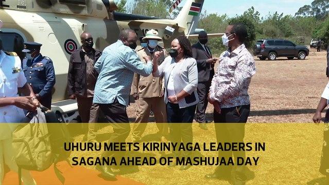 Uhuru meets Kirinyaga leaders in Sagana ahead of Mashujaa Day