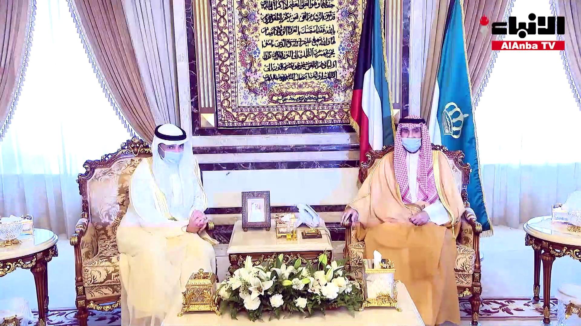 الأمير استقبل ولي العهد ورئيسي السلطتين