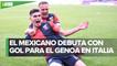 Con gol del empate, Johan Vásquez debuta con el Genoa