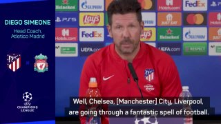 Liverpool going through 'fantastic spell' - Simeone