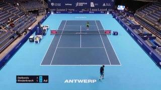 Anvers - Rinderknech s'offre un Delbonis à la dérive, revivez la balle de match