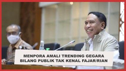 Menpora Amali Trending, Jadi Tertawaan Gegara Bilang Publik Tak Kenal Fajar/Rian