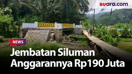 Jembatan Siluman di Cianjur Tidak Bisa Dilewati Warga, Anggarannya Rp190 Juta