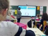 Sept tableaux numériques à l'école de Chazelles/Lyon - Reportage TL7 - TL7, Télévision loire 7