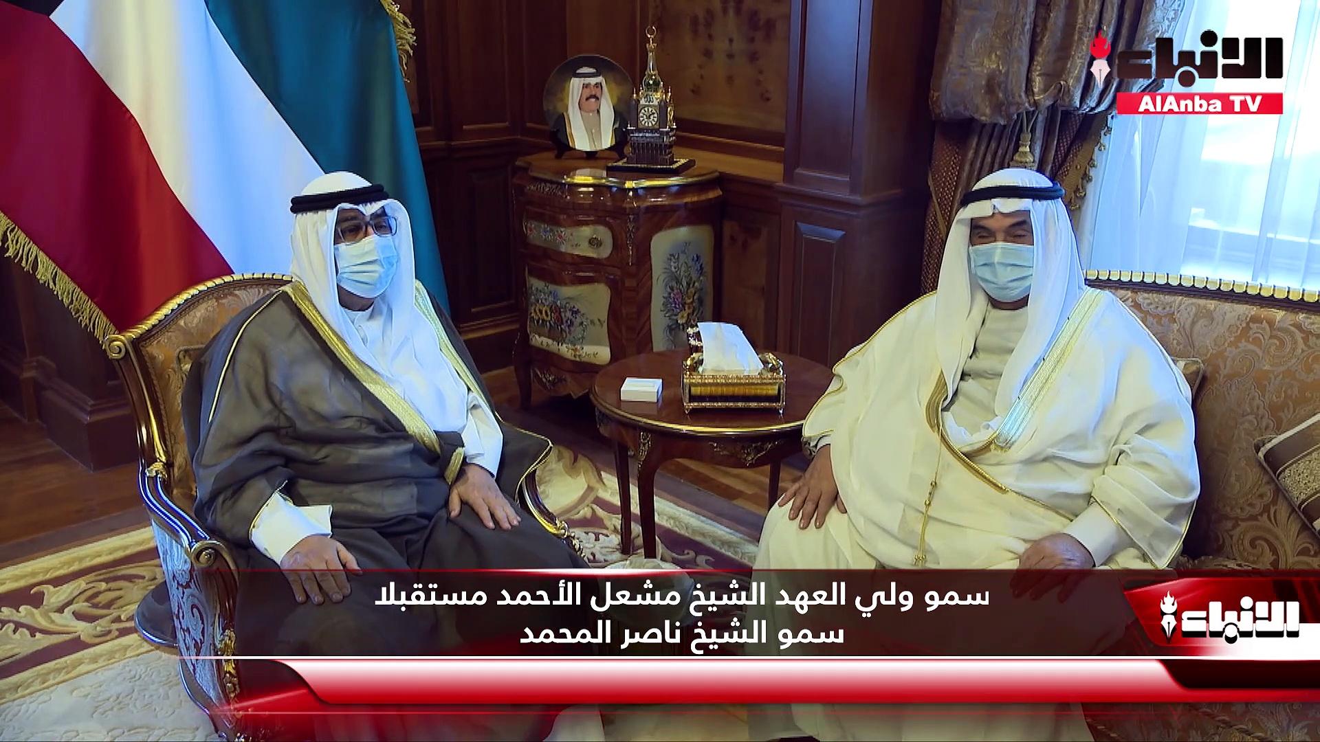 ولي العهد استقبل المحمد ورئيس ديوان المحاسبة