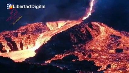 Ríos de lava y mucha actividad volcánica en la zona de Tacande en La Palma