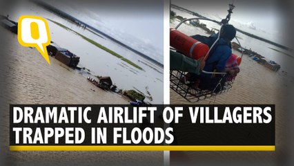 Watch: Air Force Airlift Villagers Trapped in Flood-Hit Pilibhit in Uttar Pradesh