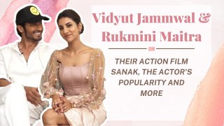 #VidyutJammwal & #RukminiMaitra On Their Action Film #Sanak, The Actor's Popularity And More