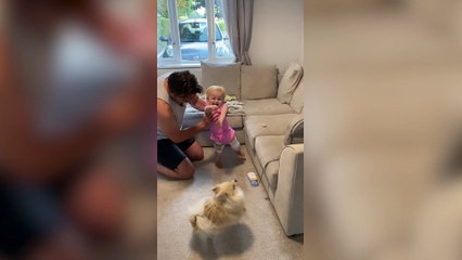 Watch moment girl born without bones in her legs takes her first steps