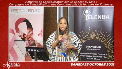 Agenda de la semaine du 18 au 23 Octobre 2021 : Activités de sensibilisation sur le cancer du sein