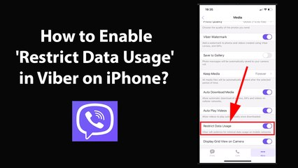How to Enable 'Restrict Data Usage' in Viber on iPhone?