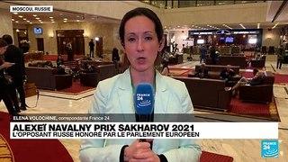 Prix Sakharov 2021 : l'opposant russe Alexeï Navalny honoré par le Parlement européen