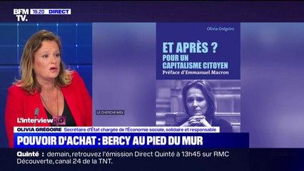 """Olivia Grégoire: """"La situation économique par Français (...) s'est globalement améliorée"""""""