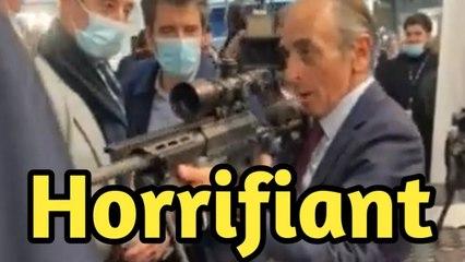 Eric Zemmour prêt à tirer sur des journalistes ? Il pointe un fusil sur la foule (vidéo)