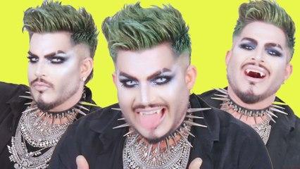 Adam Lambert Does an Easy Vampire Makeup Tutorial for Halloween   Cosmopolitan