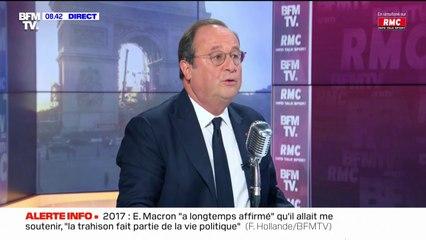 """François Hollande dénonce """"une inconstance"""" et """"des erreurs graves"""" durant le quinquennat d'Emmanuel Macron"""