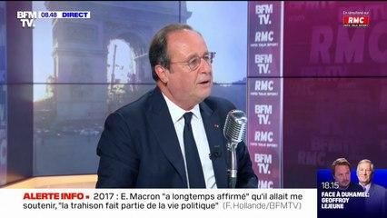 """François Hollande: """"Éric Zemmour ne sera pas président de la République"""""""
