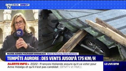 Tempête Aurore: la maire de Fécamp témoigne des dégâts provoqués par des vents allant jusqu'à 175 km/h