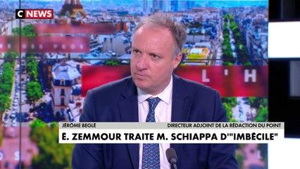 Jérôme Béglé, à la suite des propos d'Éric Zemmour à l'encontre de Marlène Schiappa : «Quand on s'invite dans un théâtre, on n'insulte pas les comédiens du moment qu'ils sont des seconds rôles car on se dévalorise soi-même»