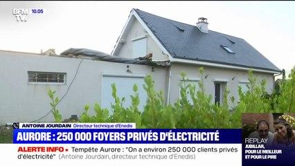 Tempête Aurore: le directeur technique d'Enedis évoque 250.000 foyers privés d'électricité