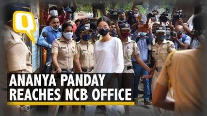 Mumbai Drugs Case   Ananya Panday Arrives at the NCB Office After NCB Officials Visited Her House