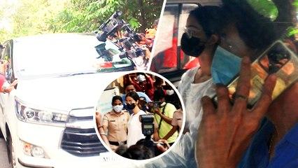 Ananya Panday & Chunky Panday Arrive At NCB Office After Raid