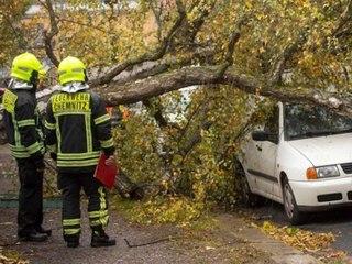 So heftig wütet Herbststurm Ignatz über Deutschland