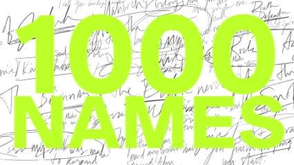 Sean Curran - 1,000 Names