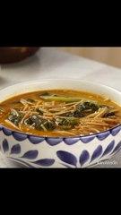 Sopa de Fideos con Acelgas