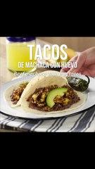 Tacos de machaca con huevo