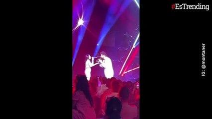 Evaluna presumió su barriguita de embarazada en pleno concierto junto a Camilo