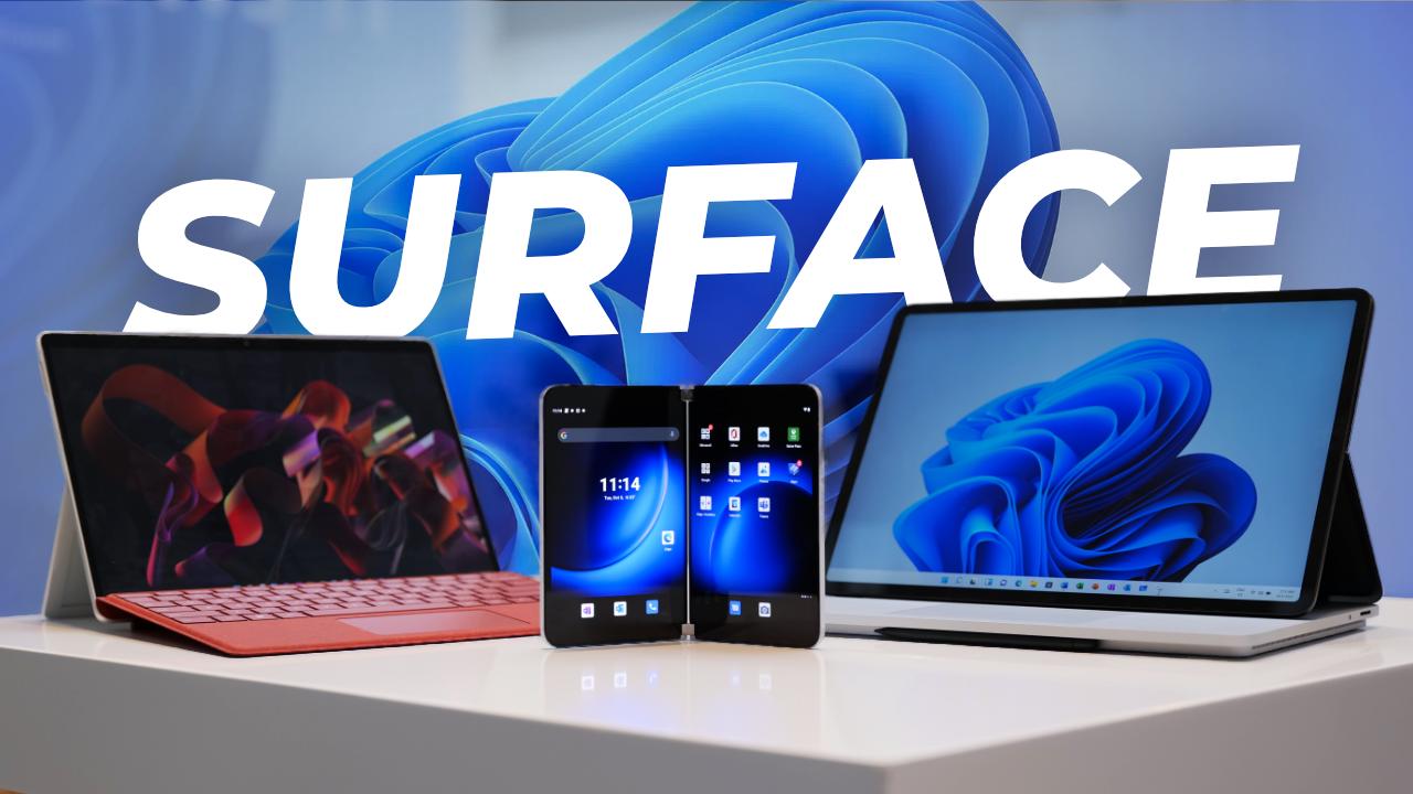 WINDOWS 11 : On a essayé les dernières Surface ! (Surface Duo 2, Surface Laptop Studio, Pro 8)