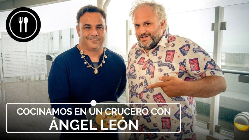 ÁNGEL LEÓN nos enseña a cocinar un ROYAL DE ERIZO en alta mar ¡a bordo de un CRUCERO!