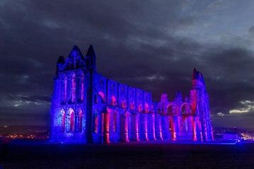Whitby Abbey Illuminated 22-10-21