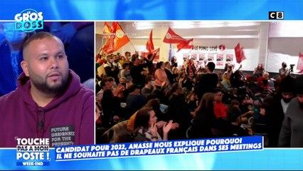 Aucun drapeaux français durant ses meetings : Anasse Kazib répond dans TPMP
