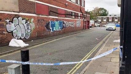 Buckland Street cordoned off