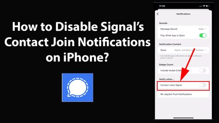 How to Disable Signal's Contact Join Notifications on iPhone?