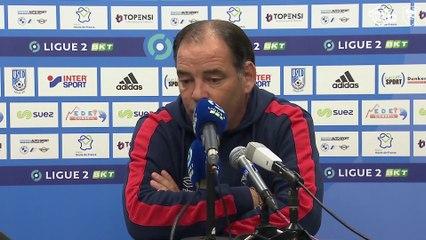 J13 Ligue 2 BKT : la réaction de Stéphane Moulin après USL Dunkerque 1-1 SMCaen