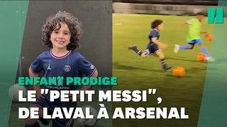 À 5 ans, il est recruté par Arsenal et surnommé le