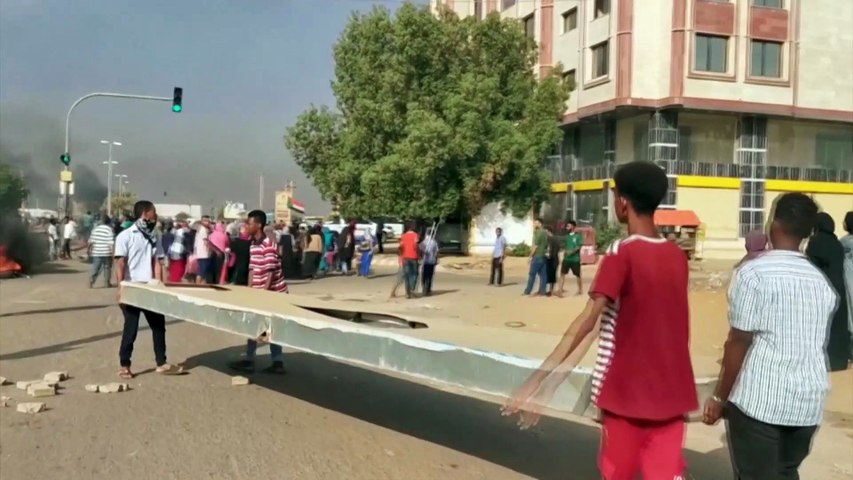 Protesters demonstrate in Sudan's capital Khartoum against military coup