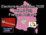 Tulle - Municipales 2008 - François  Hollande