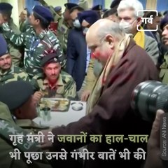 When Home Minister Amit Shah Meet CRPF Jawans In Pulwama